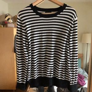 Black & White Striped Sweater